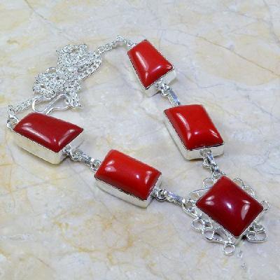 Crf 019a collier parure sautoir corail fantaisie argent 925 achat vente bijou