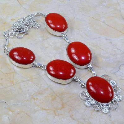 Crf 021a collier parure sautoir corail fantaisie argent 925 achat vente bijou