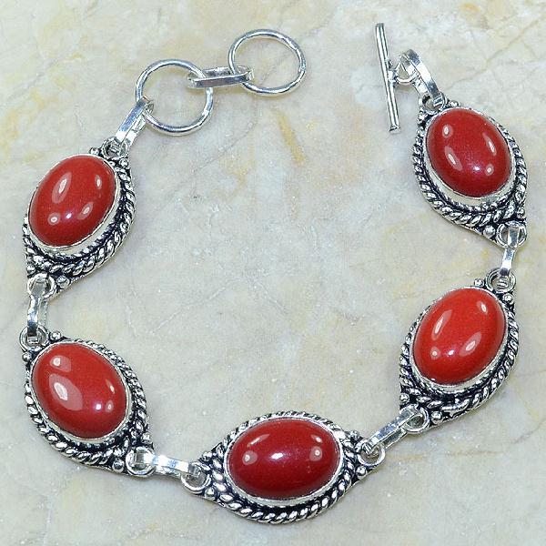 Crf 024a bracelet corail fantaisie argent 925 achat vente bijou