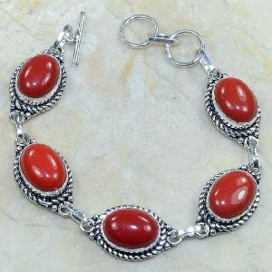 Crf 024d bracelet corail fantaisie argent 925 achat vente bijou