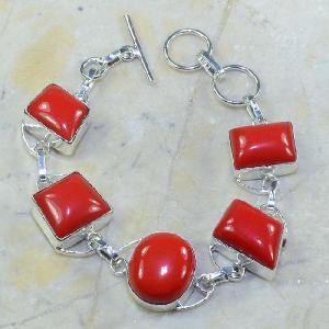 Crf 028a bracelet corail fantaisie argent 925 achat vente bijou