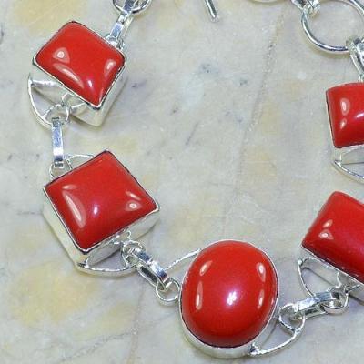 Crf 028b bracelet corail fantaisie argent 925 achat vente bijou
