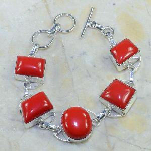 Crf 028d bracelet corail fantaisie argent 925 achat vente bijou