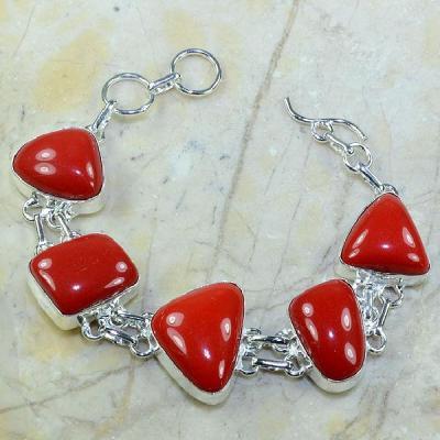 Crf 029a bracelet corail fantaisie argent 925 achat vente bijou