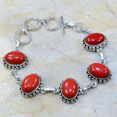 Crf 030a bracelet corail fantaisie argent 925 achat vente bijou