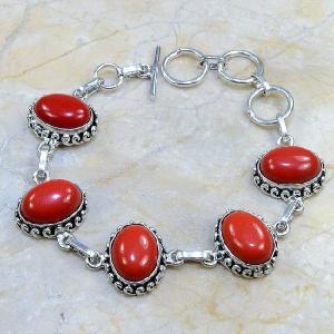 Crf 030d bracelet corail fantaisie argent 925 achat vente bijou