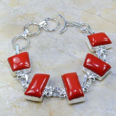 Crf 031a bracelet corail fantaisie argent 925 achat vente bijou