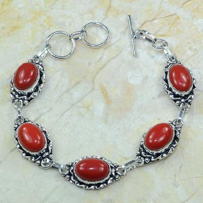 Crf 032a bracelet corail fantaisie argent 925 achat vente bijou