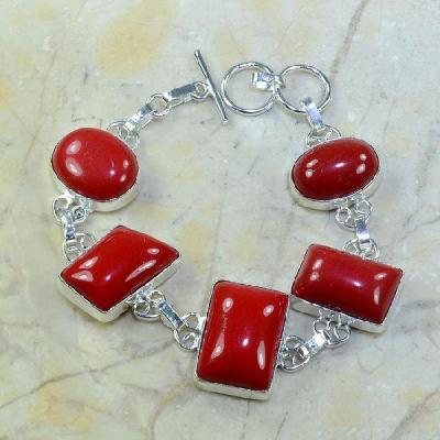 Crf 033a bracelet corail fantaisie argent 925 achat vente bijou