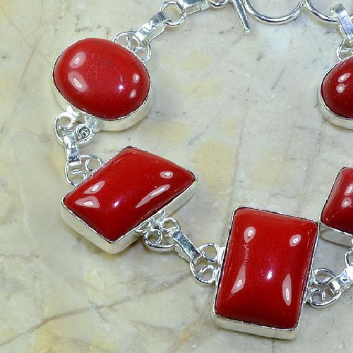 Crf 033b bracelet corail fantaisie argent 925 achat vente bijou
