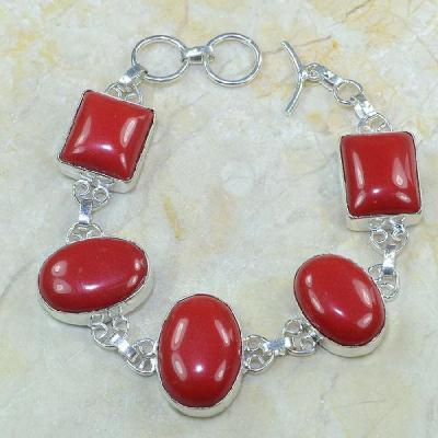 Crf 034a bracelet corail fantaisie argent 925 achat vente bijou