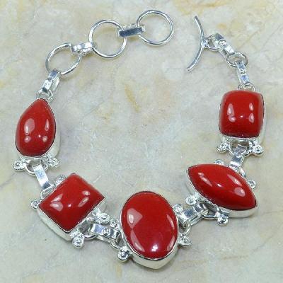 Crf 035a bracelet corail fantaisie argent 925 achat vente bijou