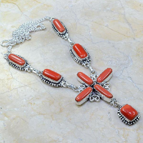 Crf 043a collier parure sautoir corail fantaisie argent 925 achat vente bijou