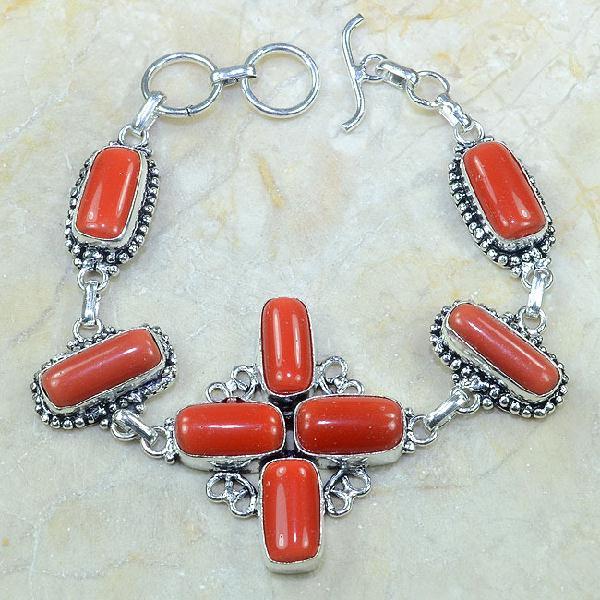 Crf 050a bracelet corail fantaisie croix argent 925 achat vente bijou