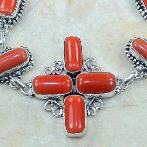 Crf 050c bracelet corail fantaisie croix argent 925 achat vente bijou