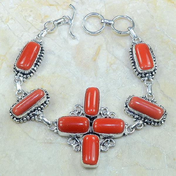 Crf 050d bracelet corail fantaisie croix argent 925 achat vente bijou