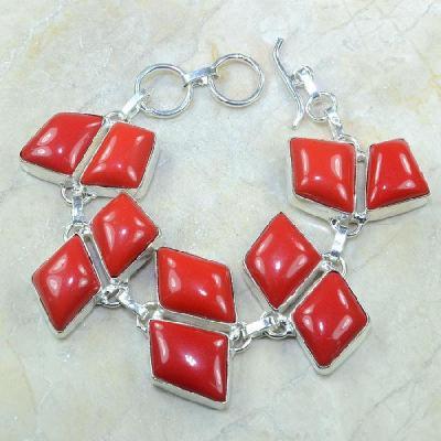 Crf 051a bracelet corail fantaisie argent 925 achat vente bijou