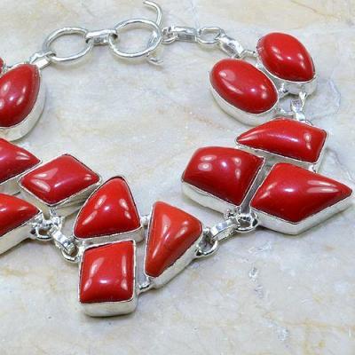 Crf 054c bracelet corail fantaisie argent 925 achat vente bijou