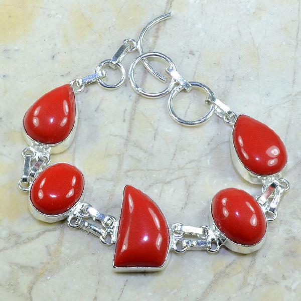 Crf 055a bracelet corail fantaisie argent 925 achat vente bijou