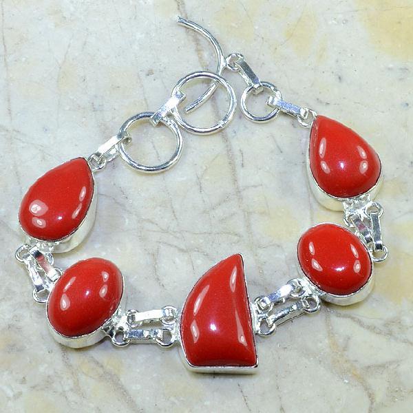 Crf 055d bracelet corail fantaisie argent 925 achat vente bijou