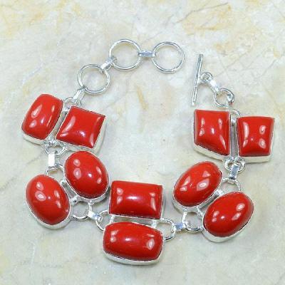 Crf 056a bracelet corail fantaisie argent 925 achat vente bijou