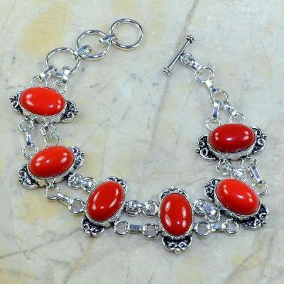 Crf 058a bracelet corail fantaisie argent 925 achat vente bijou