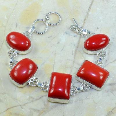 Crf 060a bracelet corail fantaisie argent 925 achat vente bijou