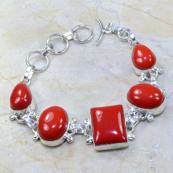 Crf 061a bracelet corail fantaisie argent 925 achat vente bijou