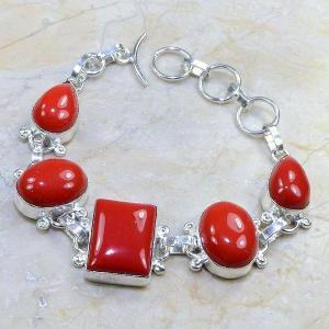 Crf 061d bracelet corail fantaisie argent 925 achat vente bijou
