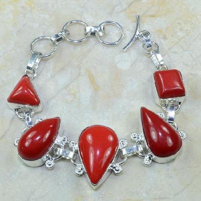 Crf 062a bracelet corail fantaisie argent 925 achat vente bijou