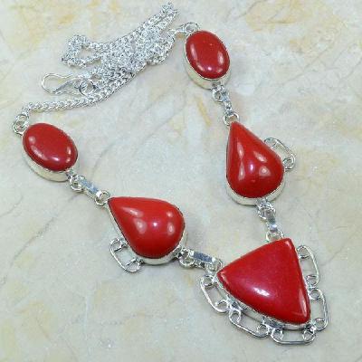 Crf 064a collier parure sautoir corail fantaisie argent 925 achat vente bijou