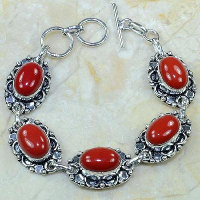 Crf 065a bracelet corail fantaisie argent 925 achat vente bijou