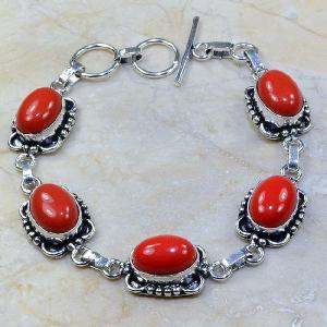 Crf 066a bracelet corail fantaisie argent 925 achat vente bijou