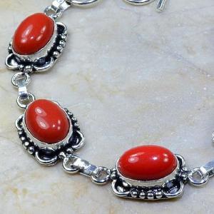 Crf 066b bracelet corail fantaisie argent 925 achat vente bijou
