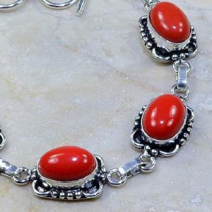 Crf 066c bracelet corail fantaisie argent 925 achat vente bijou