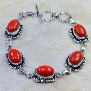 Crf 066d bracelet corail fantaisie argent 925 achat vente bijou