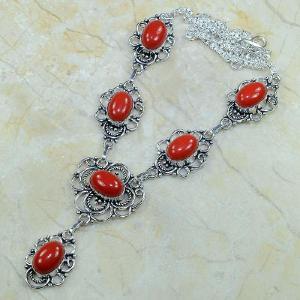 Crf 070d collier parure sautoir corail fantaisie argent 925 achat vente bijou