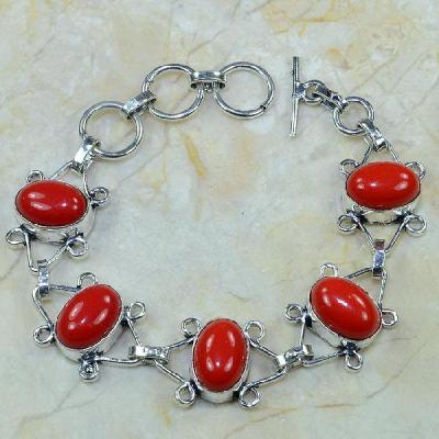 Crf 077a bracelet corail fantaisie argent 925 achat vente bijou