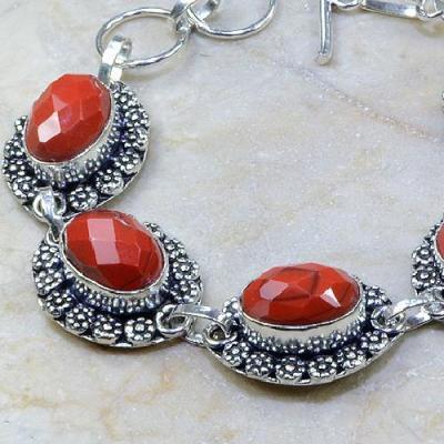 Crf 078b bracelet corail fantaisie argent 925 achat vente bijou