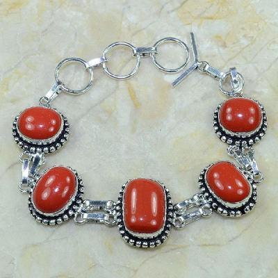 Crf 079a bracelet corail fantaisie argent 925 achat vente