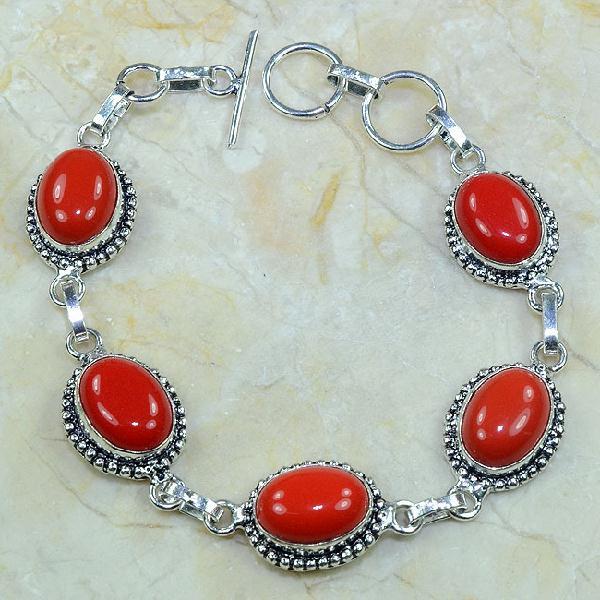Crf 080d bracelet corail fantaisie argent 925 achat vente