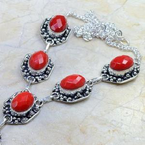 Crf 082b collier parure sautoir corail fantaisie argent 925 achat vente bijou