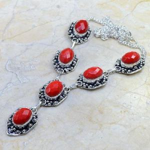 Crf 082d collier parure sautoir corail fantaisie argent 925 achat vente bijou