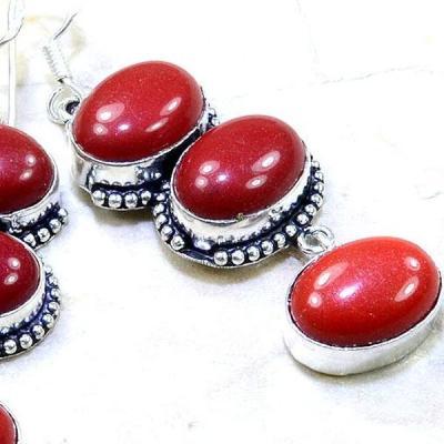 Crf 145c boucles pendants oreilles corail fantaisie argent 925 achat vente