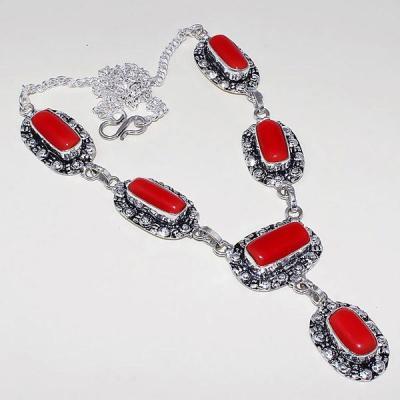Crf 155a collier parure sautoir corail fantaisie argent 925 achat vente bijou