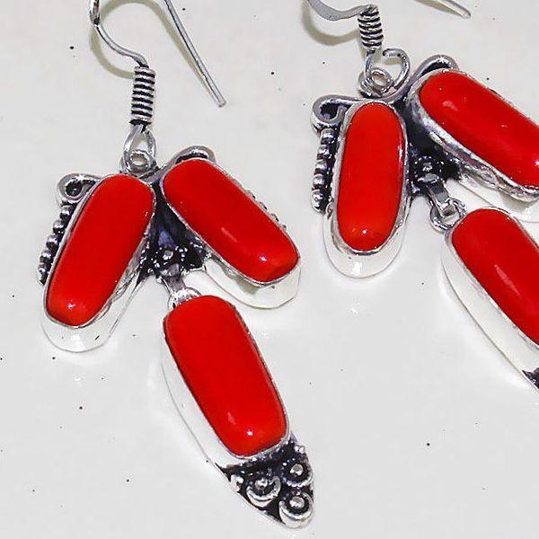 Crf 165c boucles pendants oreilles corail fantaisie argent 925 achat vente