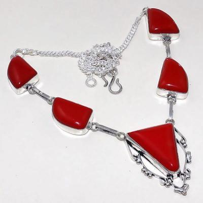 Crf 166a collier parure sautoir corail fantaisie argent 925 achat vente bijou
