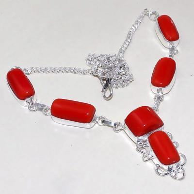 Crf 168a collier parure sautoir corail fantaisie argent 925 achat vente bijou