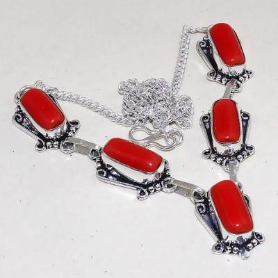 Crf 179a collier parure sautoir corail fantaisie argent 925 achat vente bijou