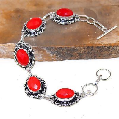 Crf 180a bracelet corail facette achat vente bijou monture argent 925